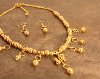 Golden Glass pearls