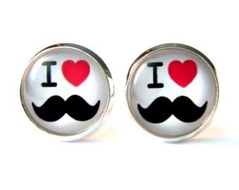 Mustache studs