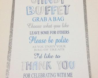 Candy Buffet Sign, Candy Bar Sign, Dessert Bar, Party Decor