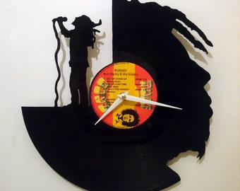 Marley Vinyl Record Wall Clock