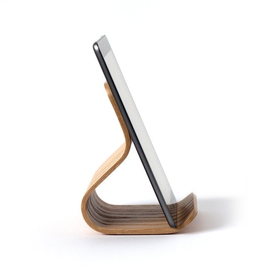 Tablet Stand Oak Bent Plywood | iPad Stand | iPad Kitchen Stand | Housewarming Gift | Kitchen Organization | Wooden iPad Stand | Home Decor