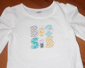 BIG SIS Embroidered Shirt or Onesie