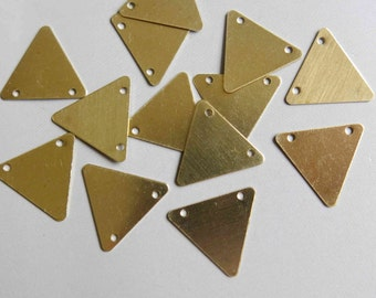 200pcs Raw Brass Triangle Pendant ,Findings 16.5mm x 16.5mm- F205