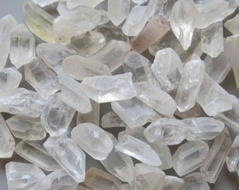 50g Natural Quartz Point Raw Rough Mineral Beads