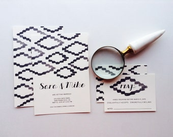Printable Wedding Invites - Art from Africa Wedding Invitations