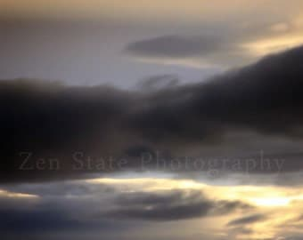 Stormy Sky Photo Print. Cloud Watching Print. Sky Photography Print. Unframed Photo Print, Framed Photography, or Canvas Print. Home Decor.