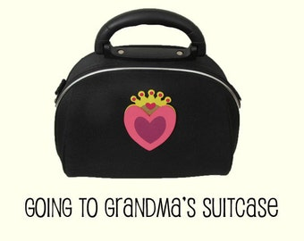 Going to Grandma's Suitcase / Kids suitcase / Child bag / Girls case / Makeup Case