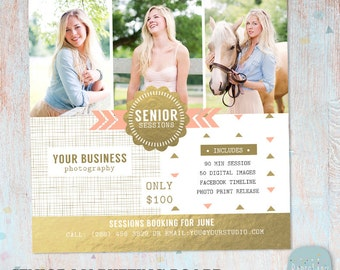 Senior Photography Marketing - Photoshop template - IS002- INSTANT DOWNLOAD