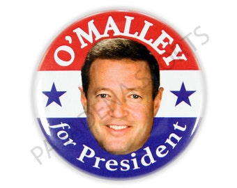 "2016 MARTIN O'MALLEY for PRESIDENT Campaign Button, 2.25"" Diameter mos"