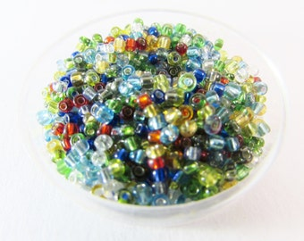 D-00903 - 20g Seed beads mix color 2mm silver lined