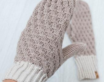 Women's Hand Knit Mittens / Handmade Mittens / Hand Knit Mittens / Wool Mittens