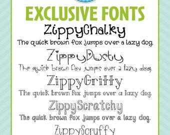 Zip-A-Dee-Doo-Dah Designs Handmade Font Collection 5 — Includes Commercial License