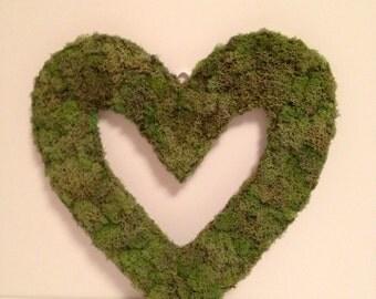 Reindeer moss heart wreath...