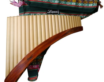 Professional Lupaca Pan Flute 24 Pipes Tunable Bamboo Peru