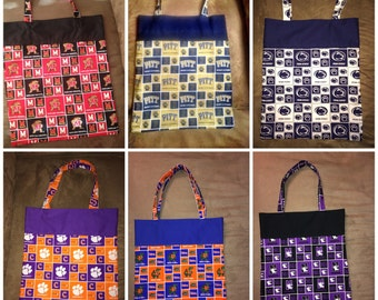Custom Made NFL,MLB, nhl and NCAA Tote Bags
