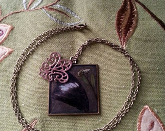 White admiral butterfly wing pendant Necklace