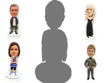 Bespoke Personalised cake topper for single person (Free shipping)