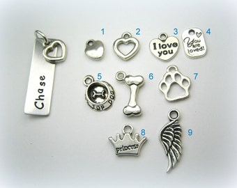 Extra tags for pet necklaces