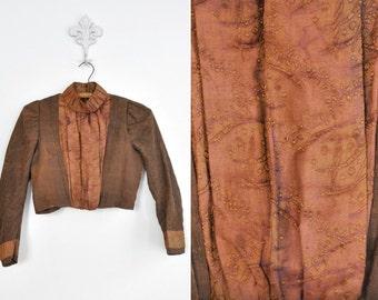 Antique Victorian Silk Blouse • Hand Stitched
