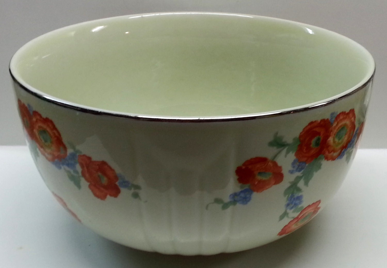 Hall S Orange Poppy 2 Quart Bowl Superior By Snowyowltreasures