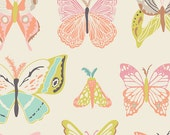 """Winged Fabric from Art Gallery Fabrics """"Wingspan Melon"""" by Bonnie Christine. Butterfly Fabric. 100% premium cotton. WNG-1020"""