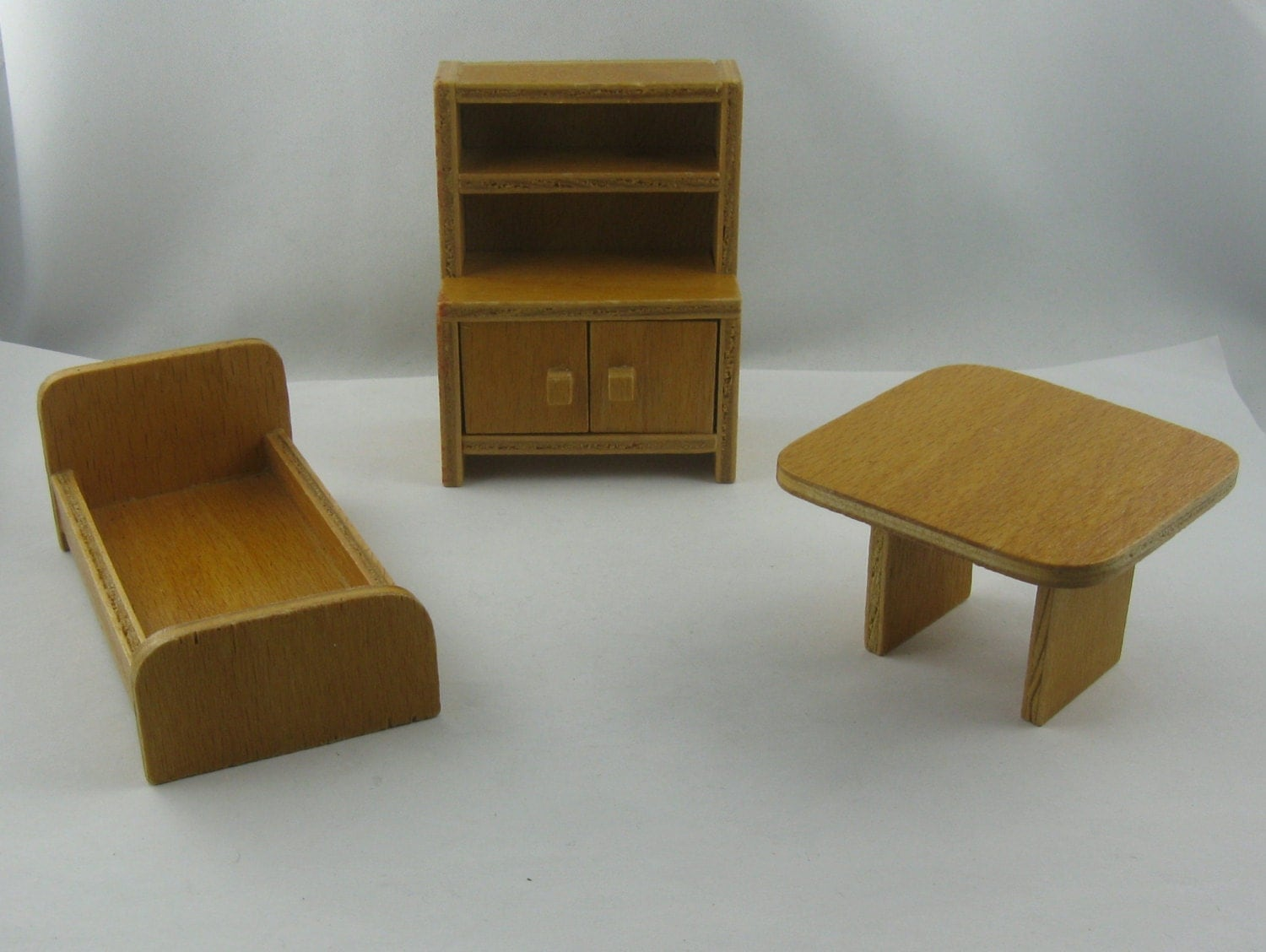 20 off dollhouse furniture from the 60s 70s from wood for 70s wooden couch