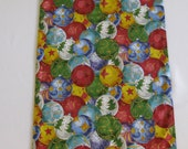 Christmas Ornament Table Runner - Multicolor, Red, Green, Blue