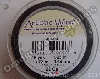 Black Artistic Wire - 22 Gage 15 yards