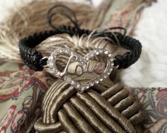Heart Bracelet, Love Bracelet, Shamballa Bracelet, Couples Bracelet