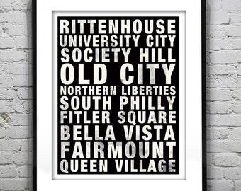 Philadelphia Subway Poster Art Print Pennsylvania