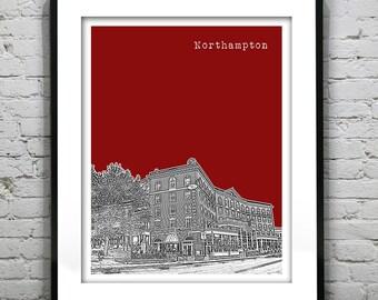 Northampton Massachusetts Poster Art Print MA Version 1