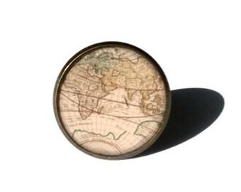WORLD MAP RING - Vintage map ring - World traveler gift - Travel ring - Vacation ring - World map jewelry