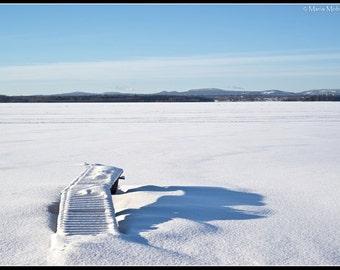 Winter Lake, Swedish Winter, Winter Lake Landscape photo, Lake Siljan, Dalarna, Sweden, Winter Landscape Photographic Fine Art Print