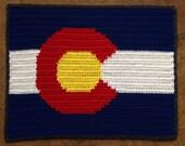 4 Sizes - Colorado Flag Blanket - PDF Crochet Pattern