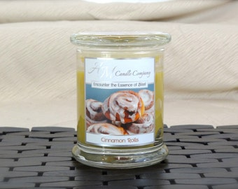 Cinnamon Roll Scented Candle - Scented Soy Candles, Cinnamon Scented Candles, Bakery Scented Candles, Gifts, Hand Poured, Birthday Gifts