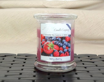 Very Berry - Scented Soy Candles, Berry Scented Candles, Berries, Coconut Wax, Hand Poured, All Natural, Gifts for Her, Birthday Gifts,