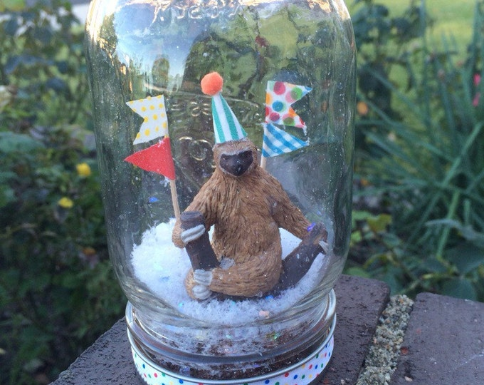 "Party Animal ""Snow Globe"" - Sloth!"