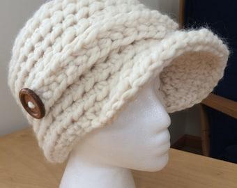 Warm Winter Brimmed Cap