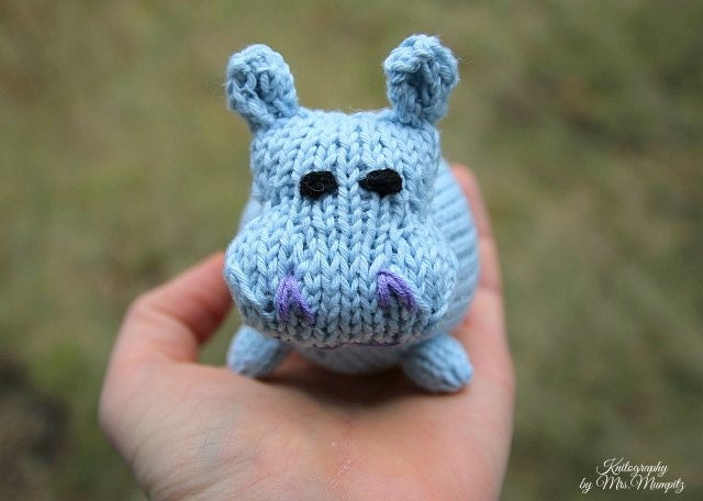 Hippo knitting pattern for beginners and advanced knitters spring this is a digital file negle Image collections