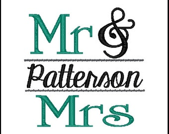 mr and mrs embroidery design split mr and mrs emroidery design wedding embroidery design