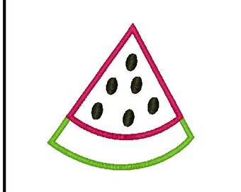 watermelon applique watermelon embroidery applique summer embroidery watermelon embroidery design