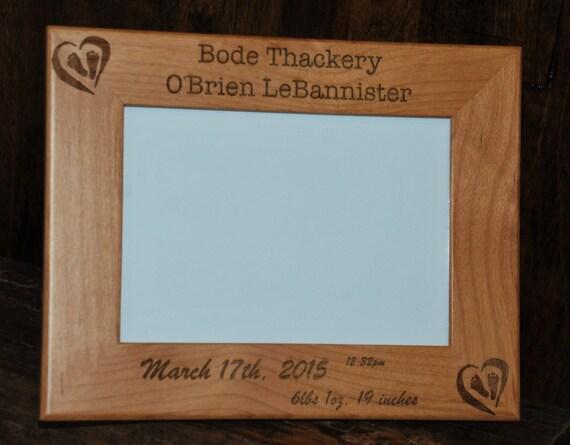 5x7 laser engraved wooden picture frame custom picture frame. Black Bedroom Furniture Sets. Home Design Ideas