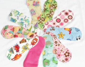 set of 10 pcs Reusable/ washable cloth panty liner