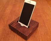 Iphone 6, iphone 6 plus ,iphone 5 , butcher block docking station acoustic (charger)