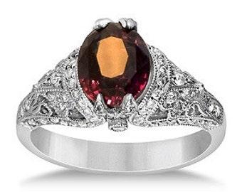 MJ Colorchange Garnet Diamond ring