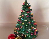 "Vintage 12"" Ceramic Christmas Tree"