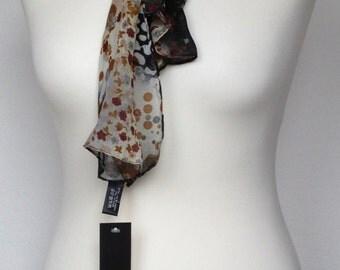 Brown floral handkerchief