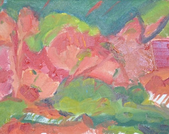 small original oil painting, 6x8, unframed, abstract, landscape