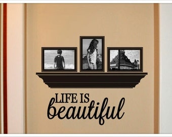 Life is beautiful vinyl wall decal