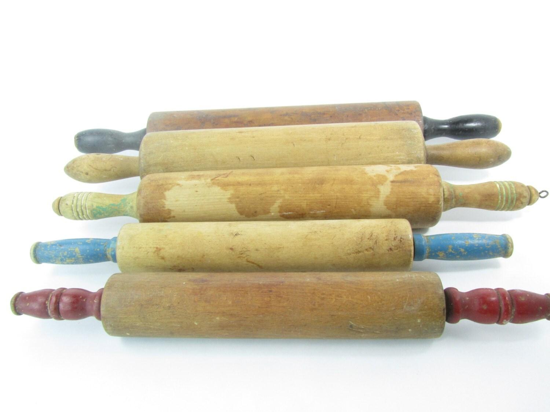 Rolling Pin Dough Vintage rolling pin do...